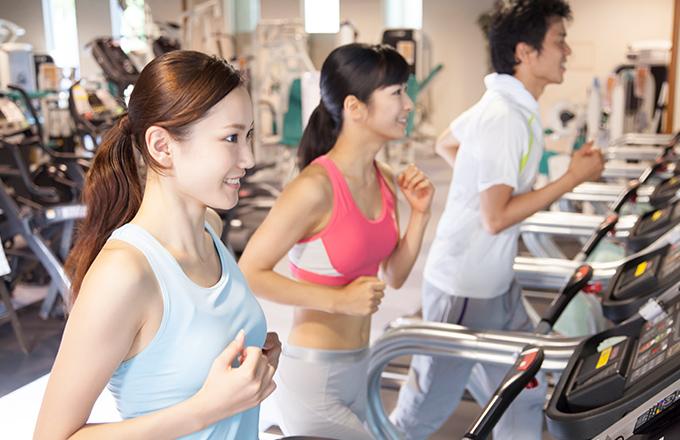 ランニングマシンによる運動